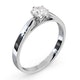 Certified 0.50CT Chloe Low Platinum Engagement Ring G/SI2 - image 2