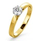 Low Set Chloe Lab Diamond Engagement Ring IGI 0.50ct F/VS1 18K Gold - image 1