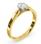 Certified 0.50CT Chloe Low 18K Gold Engagement Ring E/VS1 - image 2