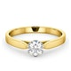 Low Set Chloe Lab Diamond Engagement Ring IGI 0.50ct F/VS1 18K Gold - image 3