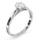 Certified 0.70CT Chloe Low Platinum Engagement Ring G/SI2 - image 2