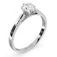 Certified 0.70CT Chloe Low 18K White Gold Engagement Ring G/SI1 - image 2
