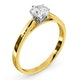 Certified 0.70CT Chloe Low 18K Gold Engagement Ring G/SI1 - image 2