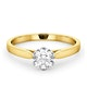 Certified 0.70CT Chloe Low 18K Gold Engagement Ring G/SI1 - image 3