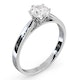 Certified 0.90CT Chloe Low Platinum Engagement Ring G/SI2 - image 2