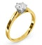 Certified 0.90CT Chloe Low 18K Gold Engagement Ring E/VS1 - image 2