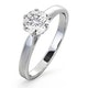 Certified 1.00CT Chloe Low Platinum Engagement Ring E/VS1 - image 1