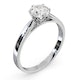 Certified 1.00CT Chloe Low Platinum Engagement Ring E/VS1 - image 2