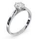 Low Set Chloe Lab Diamond Engagement Ring 1.00ct H/SI1 18K White Gold - image 2