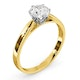 Low Set Chloe Lab Diamond Engagement Ring IGI 1.00ct H/SI1 18K Gold - image 2