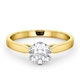 Low Set Chloe Lab Diamond Engagement Ring IGI 1.00ct H/SI1 18K Gold - image 3