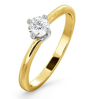 Lily Certified Lab Diamond Engagement Ring 0.33CT G/SI1 18K Gold