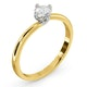 Lily Certified Lab Diamond Engagement Ring 0.33CT G/SI1 18K Gold - image 2