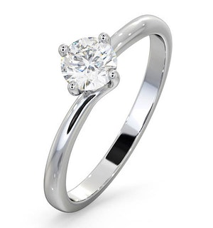 Certified 0.50CT Lily 18K White Gold Engagement Ring G/SI1