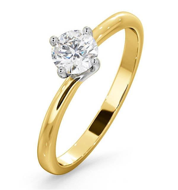 Lily Certified Lab Diamond Engagement Ring IGI 0.50ct H/SI1 18K Gold - image 1