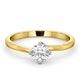 Lily Certified Lab Diamond Engagement Ring IGI 0.50ct H/SI1 18K Gold - image 3