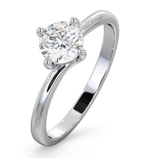 Certified 0.70CT Lily 18K White Gold Engagement Ring G/SI2