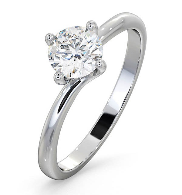 Certified Lily 18KW DIAMOND SOLITAIRE Engagement Ring 0.75CT - image 1
