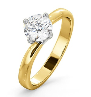 Certified 0.90CT Lily 18K Gold Engagement Ring G/SI1