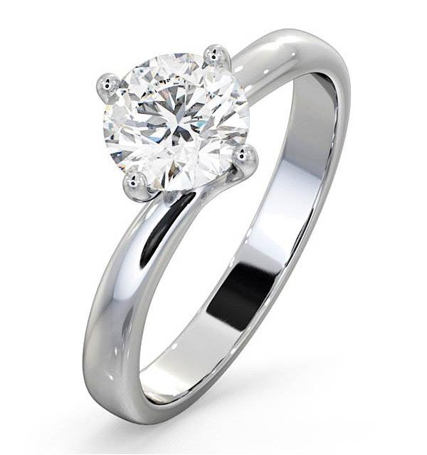 1 Carat Diamond Engagement Ring Lily Lab G/VS1 Platinum IGI Certified - image 1