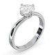 Lily Certified Lab Diamond Engagement Ring 1.00ct H/SI1 18K White Gold - image 2