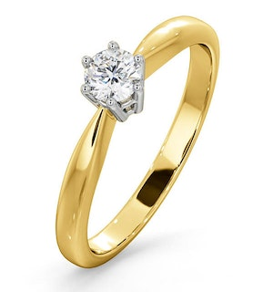 Certified High Set Chloe 18K Gold Diamond Engagement Ring 0.25CT