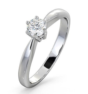 Engagement Ring Certified Diamond 0.33CT G/VS High Set Chloe Platinum