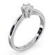Certified High Set Chloe 18K White Gold Diamond Engagement Ring 0.33CT - image 2