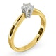 Certified High Set Chloe 18K Gold Diamond Engagement Ring 0.33CT - image 2