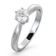 Certified 0.50CT Chloe High Platinum Engagement Ring E/VS2 - image 1