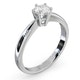 Certified 0.50CT Chloe High Platinum Engagement Ring E/VS2 - image 2
