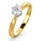 Certified 0.50CT Chloe High 18K Gold Engagement Ring E/VS2 - image 1
