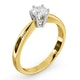 Certified 0.50CT Chloe High 18K Gold Engagement Ring E/VS2 - image 2