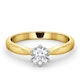 Certified 0.50CT Chloe High 18K Gold Engagement Ring E/VS2 - image 3