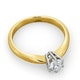 Certified 0.50CT Chloe High 18K Gold Engagement Ring E/VS2 - image 4