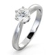 Certified 0.70CT Chloe High 18K White Gold Engagement Ring G/SI1 - image 1