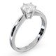 Certified 0.70CT Chloe High 18K White Gold Engagement Ring G/SI1 - image 2