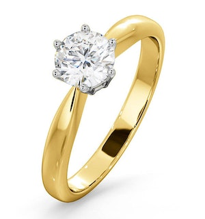 Certified High Set Chloe 18KY DIAMOND Engagement Ring 0.75CT
