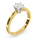 Certified High Set Chloe 18KY DIAMOND Engagement Ring 0.75CT - image 2