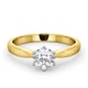 Certified High Set Chloe 18KY DIAMOND Engagement Ring 0.75CT - image 3