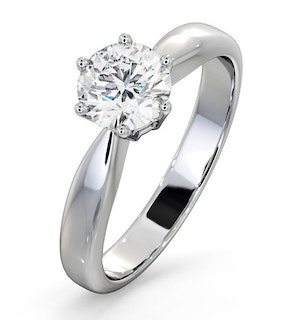 Certified 0.90CT Chloe High 18K White Gold Engagement Ring G/SI2