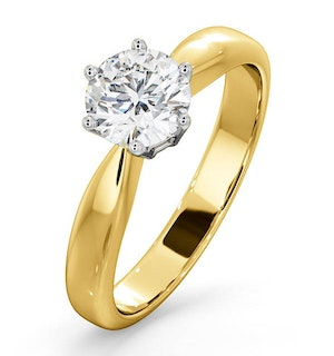Certified 0.90CT Chloe High 18K Gold Engagement Ring G/SI1