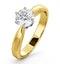 Certified 0.90CT Chloe High 18K Gold Engagement Ring E/VS1 - image 1