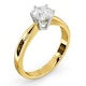 Certified 0.90CT Chloe High 18K Gold Engagement Ring G/SI1 - image 2