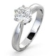 Certified 1.00CT Chloe High Platinum Engagement Ring G/SI1 - image 1