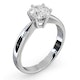 Certified 1.00CT Chloe High Platinum Engagement Ring G/SI1 - image 2