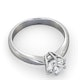 Certified 1.00CT Chloe High Platinum Engagement Ring G/SI1 - image 4