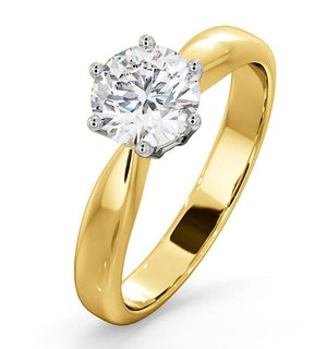 2 Carat Diamond Engagement Ring High Set Chloe Lab H/SI1 18K Gold