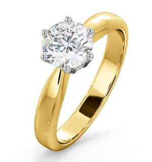 Certified High Set Chloe 18KY DIAMOND Engagement Ring 1.00CT