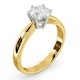 Certified 1.00CT Chloe High 18K Gold Engagement Ring E/VS1 - image 2